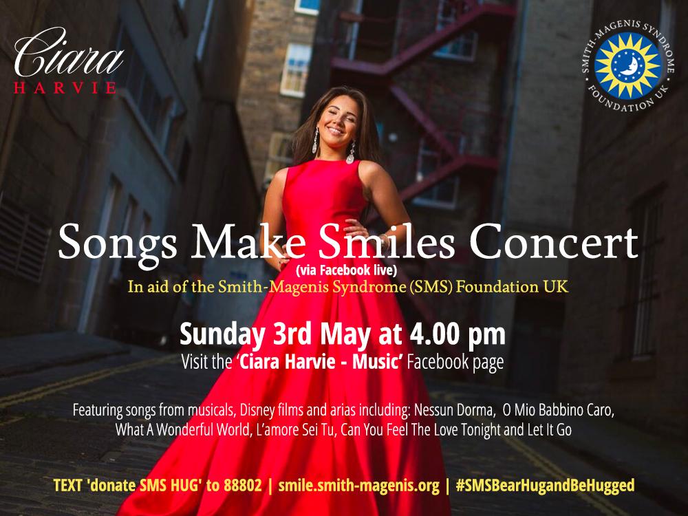 Songs Make Smiles concert banner