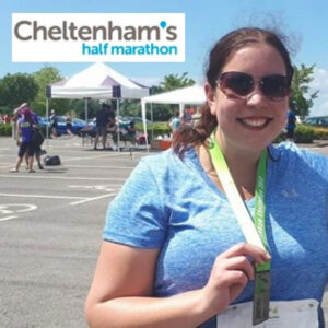 Rachel Mockford who is running the Cheltenham Half Marathon