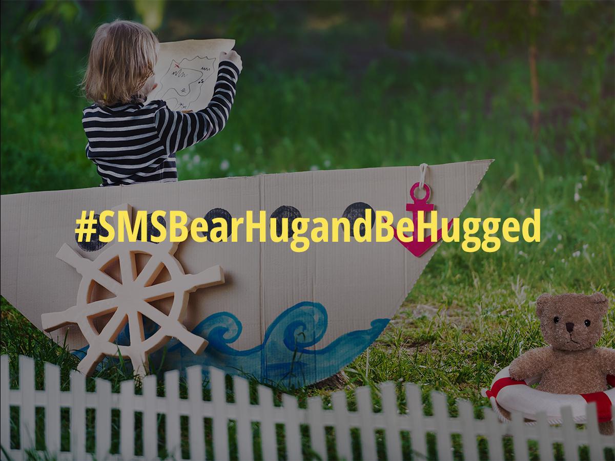 SMS Bear Hug and Be Hugged badge