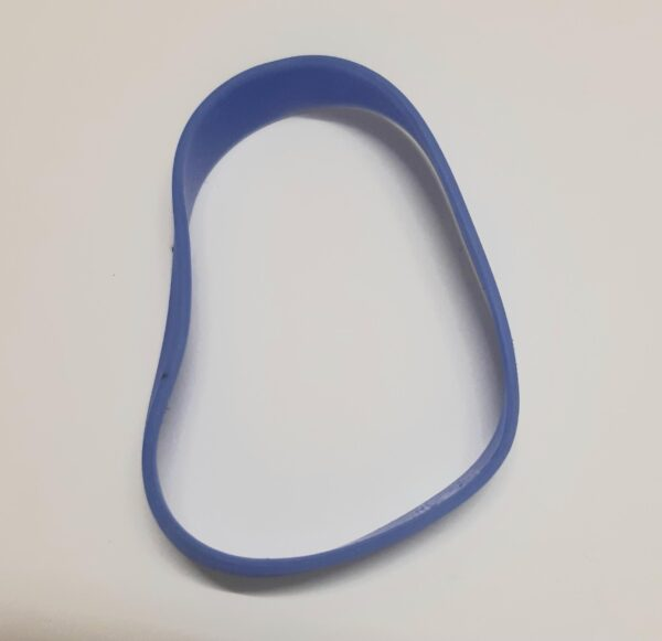 blue embossed wristband