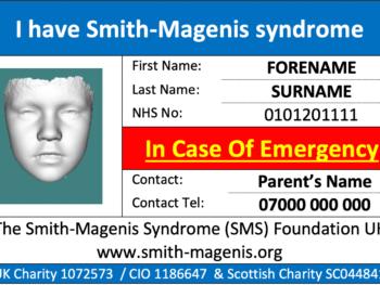 Example of emergency alert card