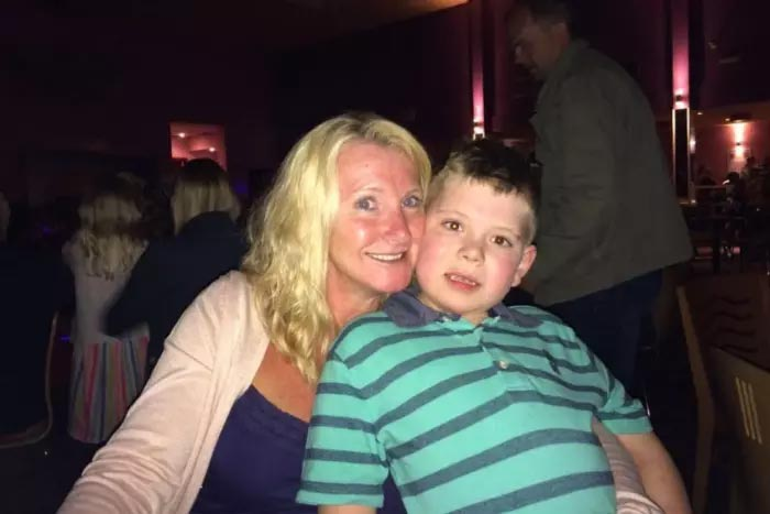 Joanne Martland with her son Louie