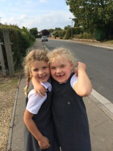 Phoebe Russett and Lily Stevenson friends from birth