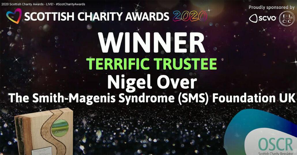 Winner of SCVO Charity Awards, Nigel Over