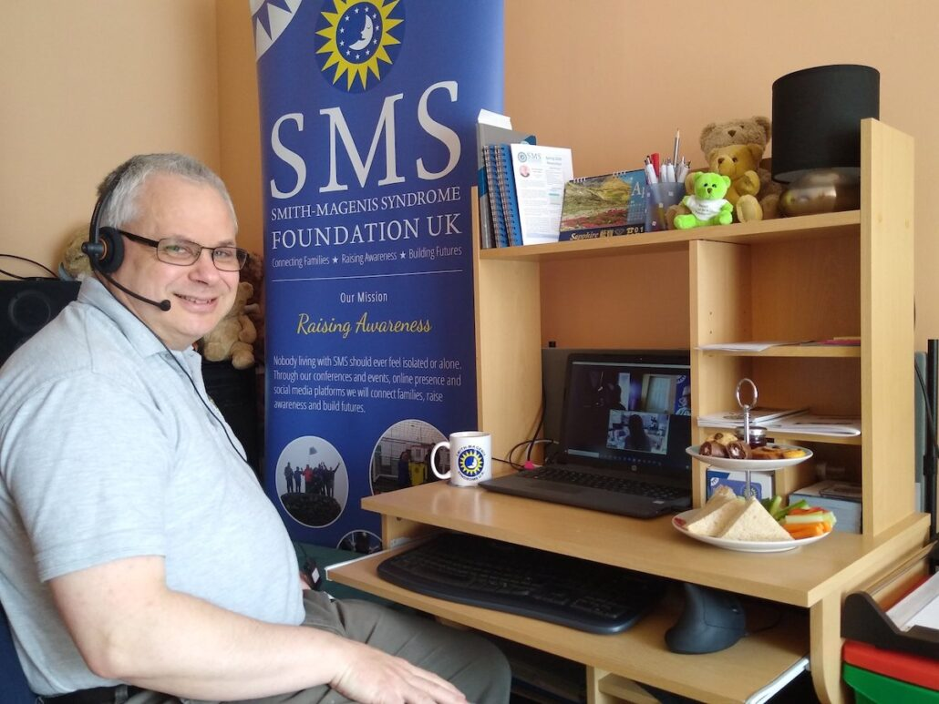 Nigel Over working for the SMS Foundation