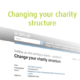 changing charity structure image