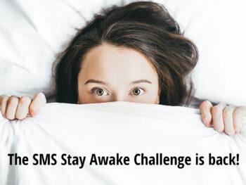 Stay Awake Challenge - woman awake in bed