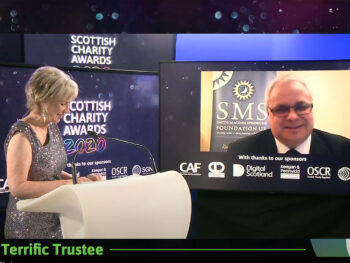 Nigel Over winner of 'Terrific Trustee' at SCVO Charity Awards 2020