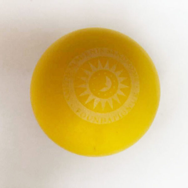 yellow stress ball